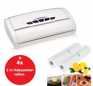 VacuPack FS82 Vakuumierer mit Folienschweißer, inkl. 4x3m Folienrolle
