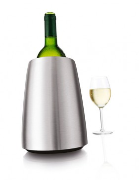 Vacu Vin 3649360 Weinflaschenkühler Elegant Edelstahl