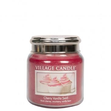 Village Candle Cherry Vanilla Swirl Duftkerze im Glas 389 Gramm, Brenndauer 105Std, Raumkerze, Kerze