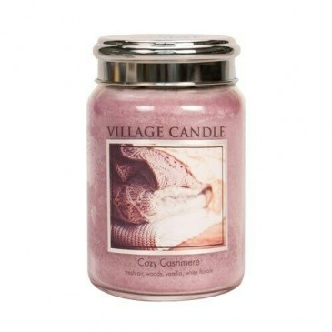 Village Candle Cozy Cashmere Duftkerze im Glas 602 Gramm, Brenndauer 170 Std, Raumkerze, Kerze