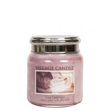 Village Candle Cozy Cashmere Duftkerze im Glas 389 Gramm, Brenndauer 105 Std, Raumkerze, Kerze