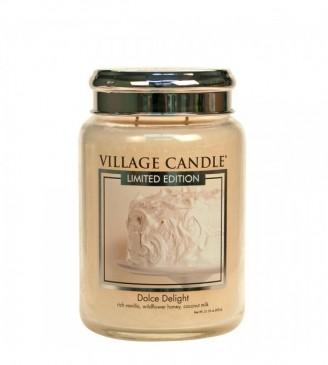 Village Candle Dolce Delight Duftkerze im Glas, Brenndauer 170 Std, Raumkerze, Kerze,