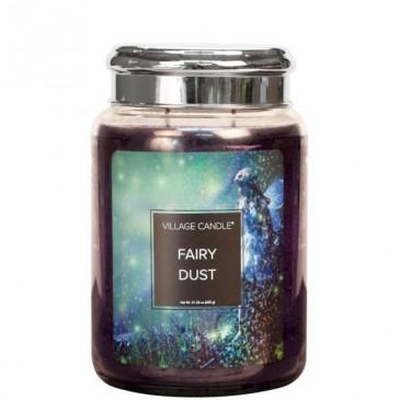 Village Candle Fairy Dust Duftkerze im Glas 602 Gramm, Brenndauer 170 Std, Raumkerze, Kerze