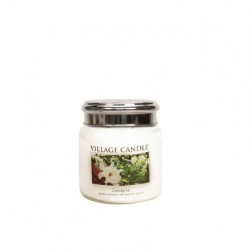 Village Candle Gardenia Duftkerze im Glas 389 Gramm, Brenndauer 105 Std, Raumkerze, Kerze