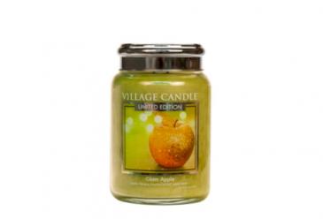 Village Candle Glam Apple Duftkerze im Glas 602 Gramm, Brenndauer 170 Std, Raumkerze, Kerze