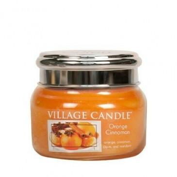 Village Candle Orange Cinnamon Duftkerze im Glas 262 Gramm, Brenndauer 55 Std, Raumkerze, Kerze