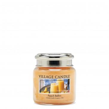 Village Candle Peach Bellini Duftkerze im Glas 389 Gramm, Brenndauer 105 Std, Raumkerze, Kerze