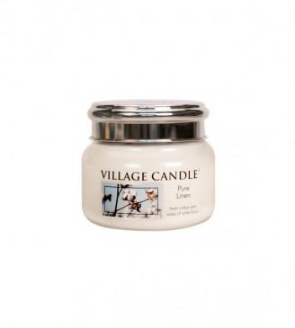 Village Candle Pure Linen Duftkerze im Glas 262 Gramm, Brenndauer 55 Std, Raumkerze, Kerze