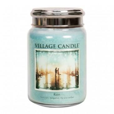 Village Candle Rain Duftkerze im Glas, Brenndauer 170 Std, Raumkerze, Kerze