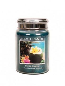 Village Candle Tropical Getaway Duftkerze im Glas, Brenndauer 170 Std, Raumkerze, Kerze