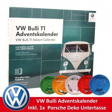 VW Bulli T1 Adventskalender 2019,für Sammler, inkl. Porsche Untertasse