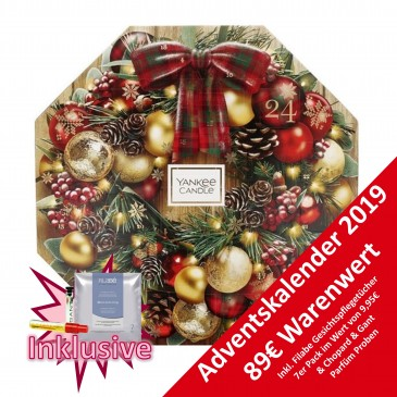 Yankee Candle Premium Kerzen Adventskalender 2019, Wert 89€